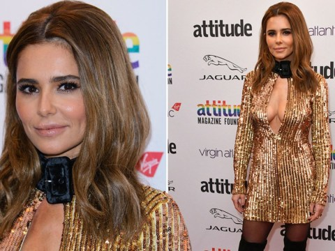 Cheryl goes for gold in plunging dress at Attitude Awards 2019 and we stan
