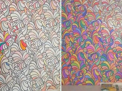 Woman raves about £25 colour-in wallpaper that's perfect for kids