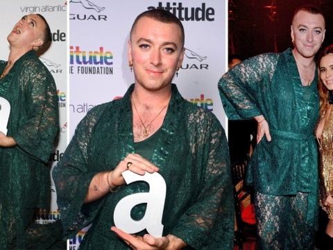 Sam Smith captures hearts as they rock kimono for Attitude Awards after coming out as non-binary
