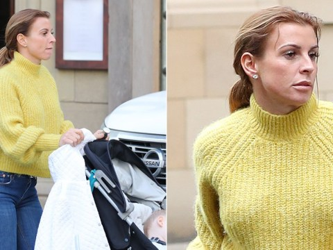 Coleen Rooney pictured out with son Cass after casually setting social media alight with Rebekah Vardy claims