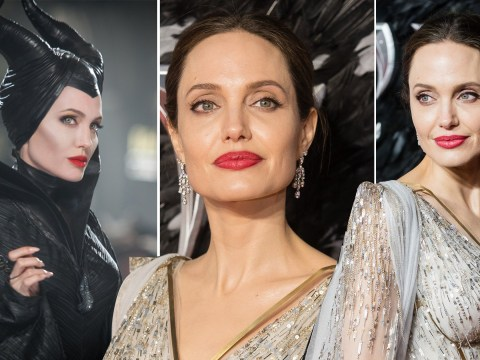 Angelina Jolie's intense Maleficent costume once involved goat eyes and feather hair, as she details 2-hour transformation