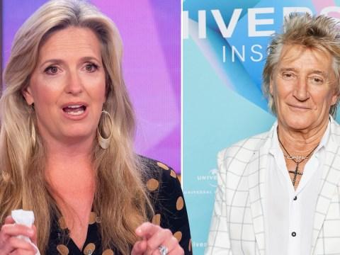 Rod Stewart's wife Penny Lancaster breaks down in tears recalling his prostate cancer battle