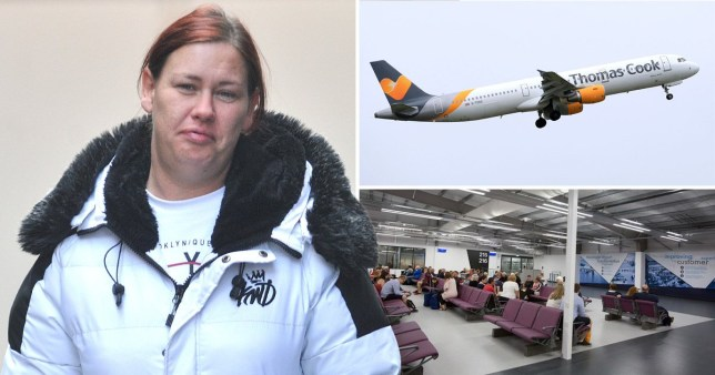 A 'drunken thug' who forced a pilot to divert a Thomas Cook flight during a 'terrifying' two-hour air rage incident has been jailed.