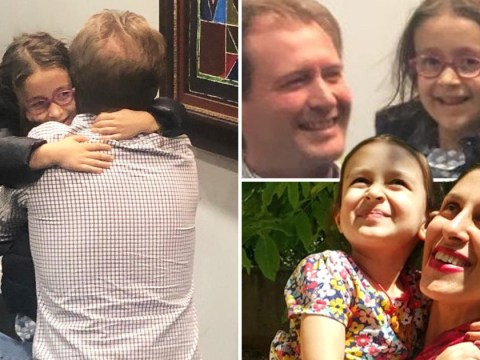 Daughter of mother jailed in Iran reunited with dad in UK