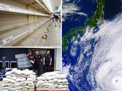 Japan braced for 80cm of rain as Typhoon Hagibis closes in