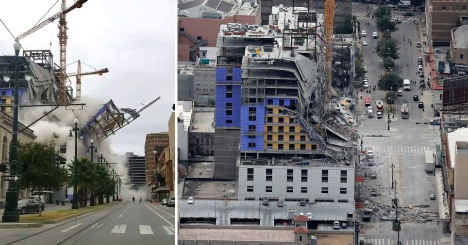 Image result for New Orleans hard rock hotel collapse who is in charge of the site?
