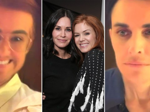 Courteney Cox and Isla Fisher just confused everyone with a questionable video of them 'urinating' as men