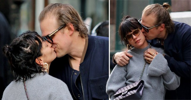 Lily Allen and David Harbour kiss in New York