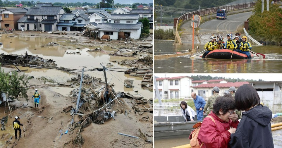 Thousands have joined search and rescue operations in the aftermath of Typhoon Hagibis (Picture: Getty)
