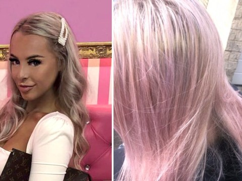 Woman accidentally dyes her hair pink using a Lush bath bomb