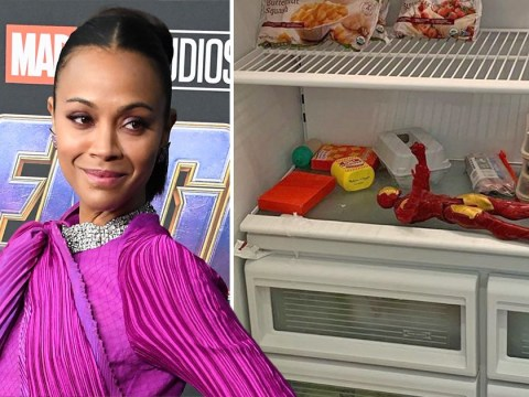 Iron Man is in Zoe Saldana's freezer and we have so many questions