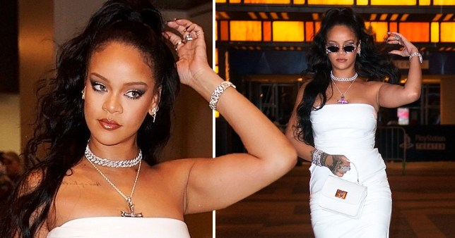 Rihanna slays in all-white outfit as she admits her relationship with Hassan Jameel is 'going really well'