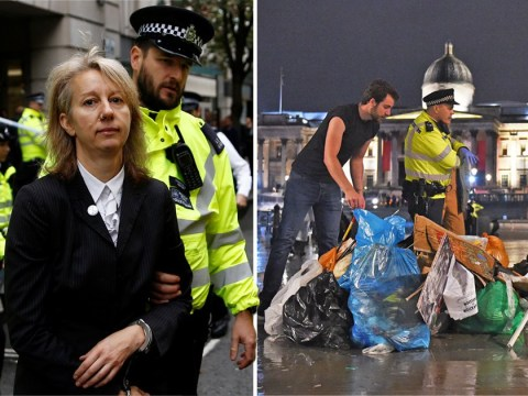 Leader of XR arrested as Trafalgar Square camp is cleared by police