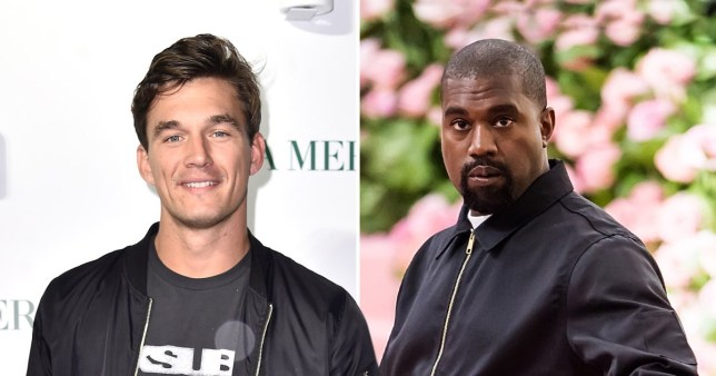 Tyler Cameron and Kanye West