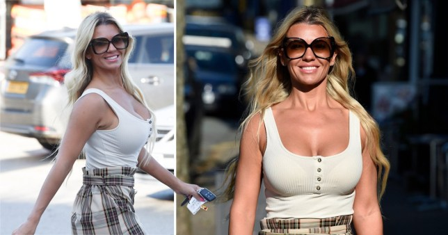 Christine McGuinness clearly doesn't feel the cold as she rocks vest and mini-skirt in October