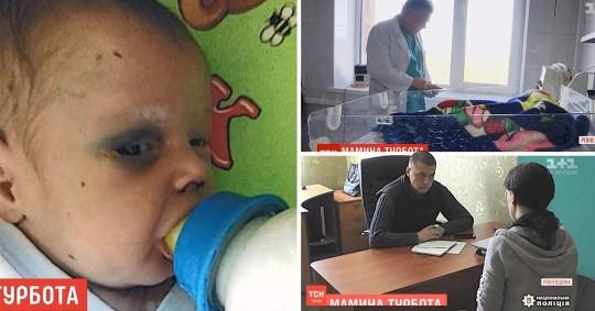 Baby beaten in Ukraine