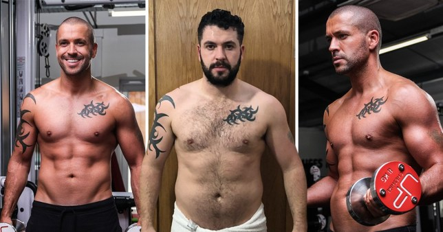 Shayne Ward shows off his unbelievable body transformation with shirtless snaps after losing 24lbs