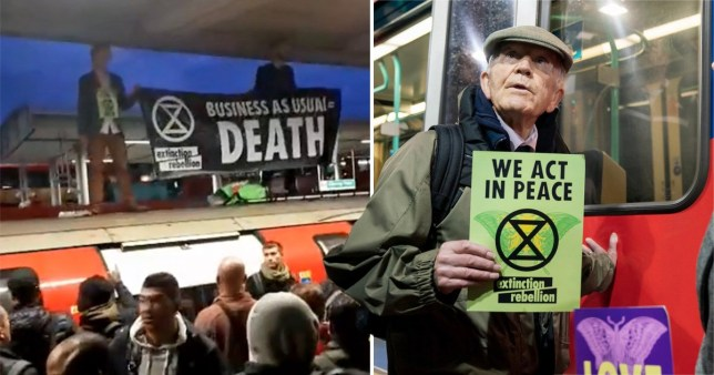 Five charged over Extinction Rebellion London tube protest