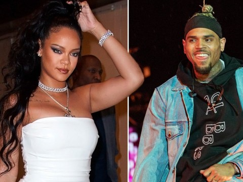 Rihanna plays Chris Brown song in Fenty Beauty promo video and he responds with love