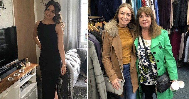 Thrifty mum wears 10p charity shop evening gown to black-tie event
