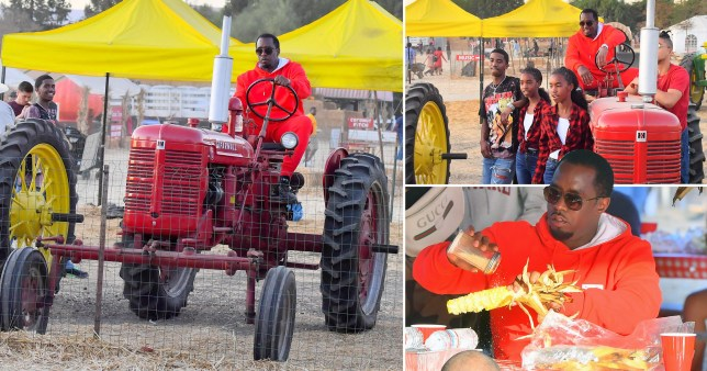 Diddy on a tractor