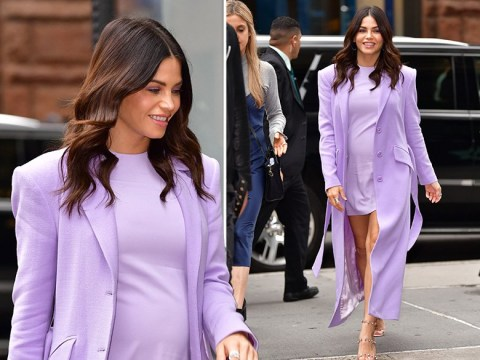 Jenna Dewan dresses growing baby bump in purple as she reveals reason for Channing Tatum divorce