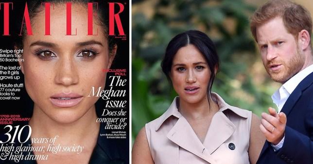 Meghan will grace the cover of Tatler on October 31