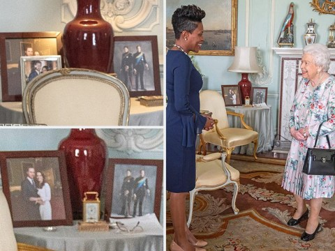 Meghan and Harry's picture disappears from Queen's table at Buckingham Palace