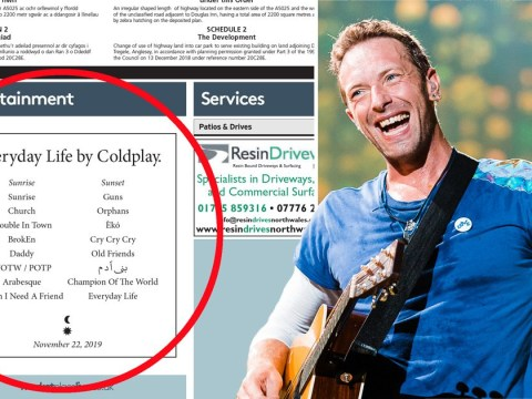 Coldplay surprise Welsh locals by revealing Everyday Life album tracklist in newspaper advert