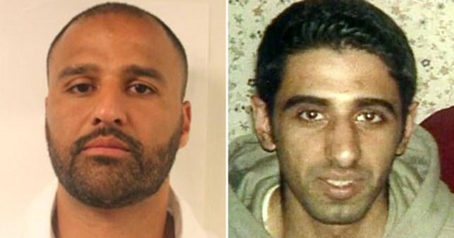 Tabraz Mohammed, 39 (right) next to his murder victim Soheil Mumtaz