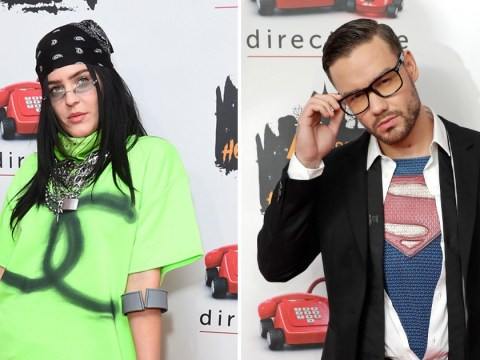 Anne Marie dresses up as Billie Eilish complete with leg brace as she joins A-listers at Kiss Haunted House Party