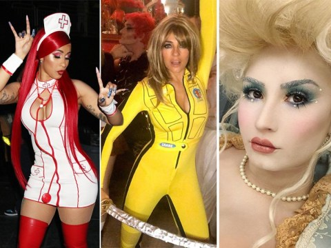 Halloween 2019: Liz Hurley's impressive Kill Bill costume and Cardi B as classic sexy nurse as stars get spooky