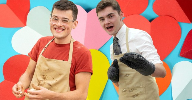 Henry Bird and Michael in Bake Off