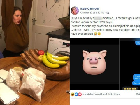 Woman accidentally sends manager an animoji of herself as a hungry pig asking for a Chinese takeway