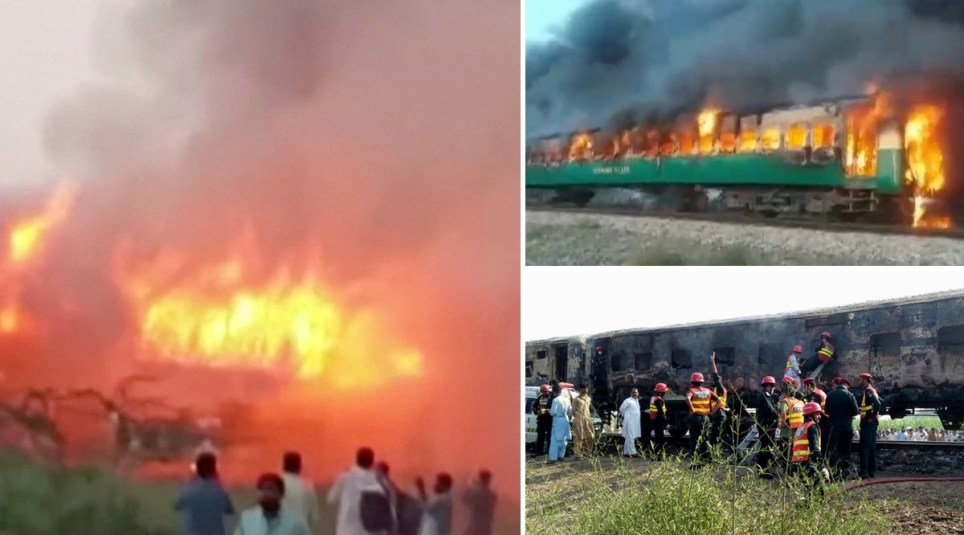 Authorities have said 65 people were killed - many when they jumped from the train to escape the blaze (Picture: Reuters)