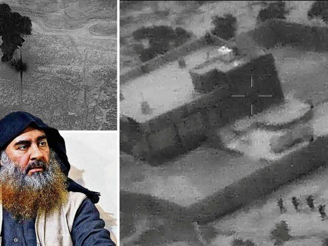 Aerial footage released by US shows moment Isis leader's base is obliterated
