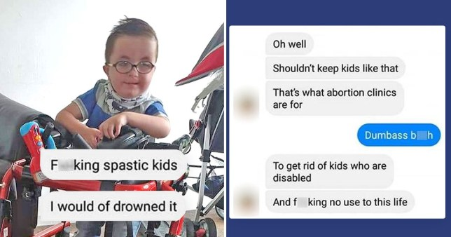 A scammer is deliberately targeting parents of disabled children and making fun of them (Picture: Kennedy News Media)