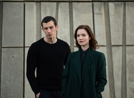 Programme Name: The Capture - TX: 03/09/2019 - Episode: n/a (No. n/a) - Picture Shows: Shaun Emery (CALLUM TURNER), DI Rachel Carey (HOLLIDAY GRAINGER) - (C) Heyday Films - Photographer: Parisa Taghizadeh