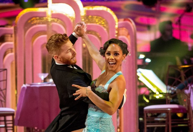 Neil Jones and Alex Scott perform the quickstep on Strictly Come Dancing 2019