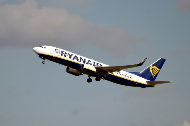 This picture taken on September 27, 2019 shows an Boeing 737 NG / Maxof Irish Low Cost compagny Ryanair after taking off from the Toulouse-Blagnac airport, near Toulouse. (Photo by PASCAL PAVANI / AFP)PASCAL PAVANI/AFP/Getty Images