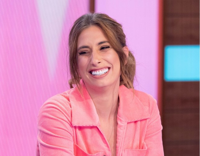 Editorial use only Mandatory Credit: Photo by Ken McKay/ITV/REX (10432465bm) Stacey Solomon 'Loose Women' TV show, London, UK - 01 Oct 2019