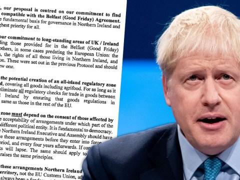 Boris Johnson scraps Irish backstop in new Brexit offer to EU