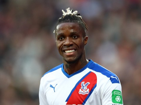 Wilfried Zaha responds to West Ham fans accusing him of spitting at Declan Rice