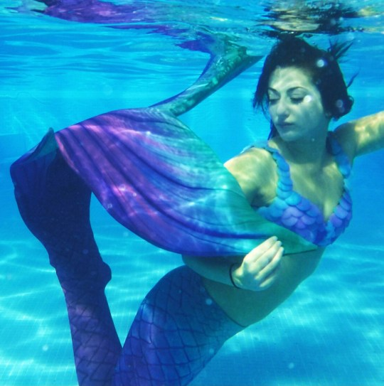 A funeral director ditched her job because it made her so miserable to become a full-time mermaid - and now makes ??100 an hour. Jasmine Seales, 28, revealed she would often 'end up crying to myself' at the funeral home because dealing with grieving families was so 'hard'. Miss Seales quit her job after she was inspired to become a professional mermaid - and today vowed 'I'll do it until it puts me in a wheelchair' because she loves it so much. Now she trains in the water up to twice a week and can hold her breath underwater for an impressive two minutes and 35 seconds. She dresses in bras and 'dragon skin platinum silicone' mermaid tails and performs at festivals, birthday parties and events - earning up to ??100 an hour. SEE OUR COPY FOR DETAILS. Please byline: Jasmine Seales/Solent News ?? Jasmine Seales/Solent News & Photo Agency UK +44 (0) 2380 458800