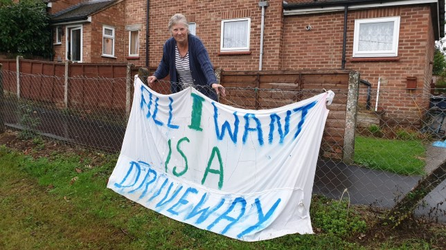 Grandmother, 72, goes into battle to get a driveway