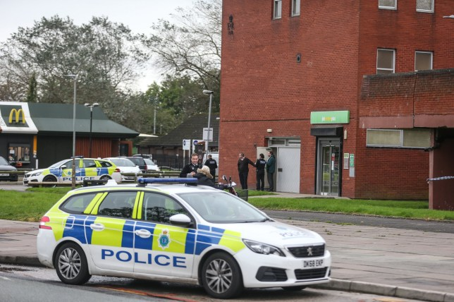 Jobcentre security guard stabbed.
