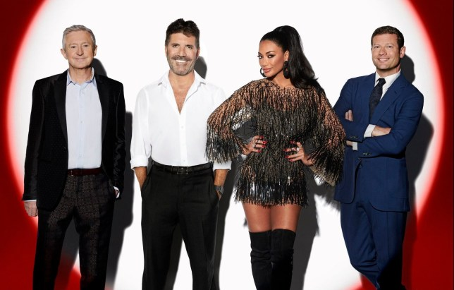 Louis Walsh and Simon Cowell prepare for X Factor Celebrity