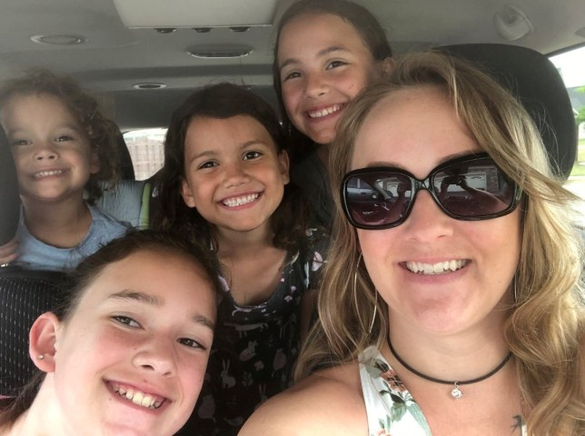 Bree,3, Zoie, 6, Nayeli, 10. (L-R front row) Lezley, 12, and Greta Zarate,32. Mum