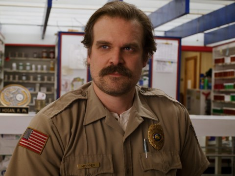 David Harbour loses it over the word 'grandma' in hilarious Stranger Things season 3 blooper reel