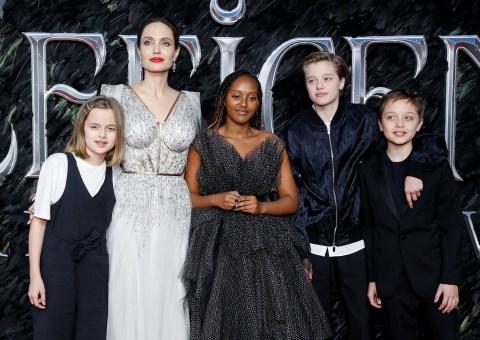 Angelina Jolie Celebrates Maleficent 2 Premiere With Kids